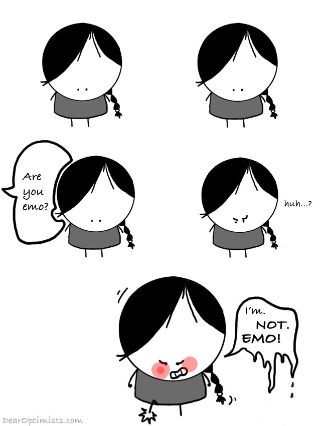 emo drawing dear optimists